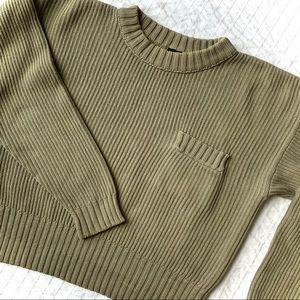 Vintage LIZ SPORT Ribbed Cotton Sweater